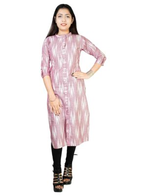 Cotton women's A-line kurti kurta for women