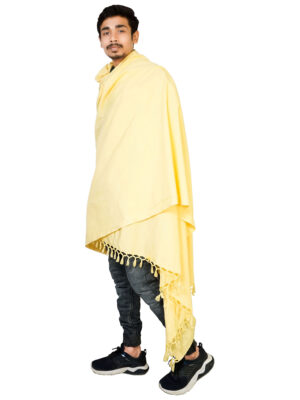 Riyashree men's cotton all weather plain stole shawl for winter and summer (52″ * 94″)