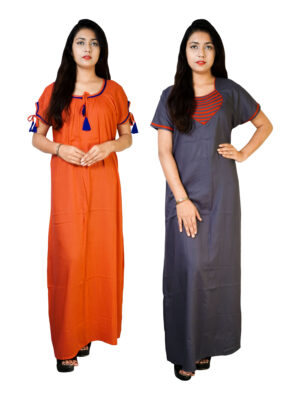 Cotton nighty maxi for women