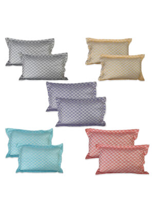 Riyashree 100% pure cotton stylish pillow cover super soft for home with tie knot set of 10 ( 26 in * 18 in )